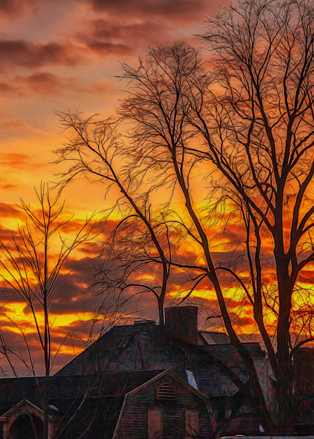 Red Sky At Night Photography Art | Peter J Schnabel Photography LLC