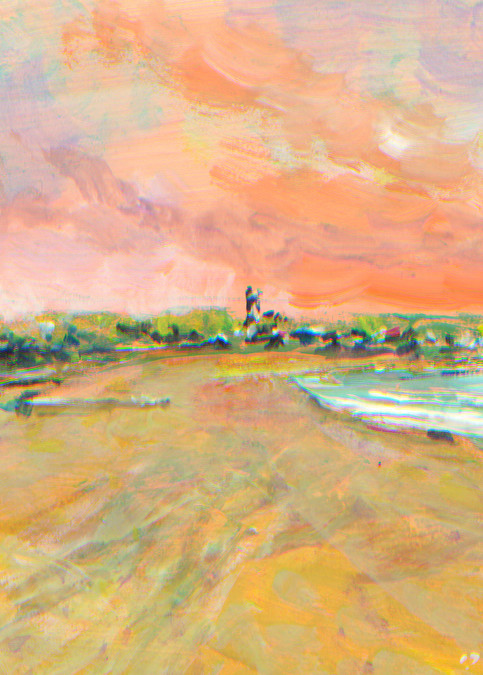 First Beach Newport RI Art Print