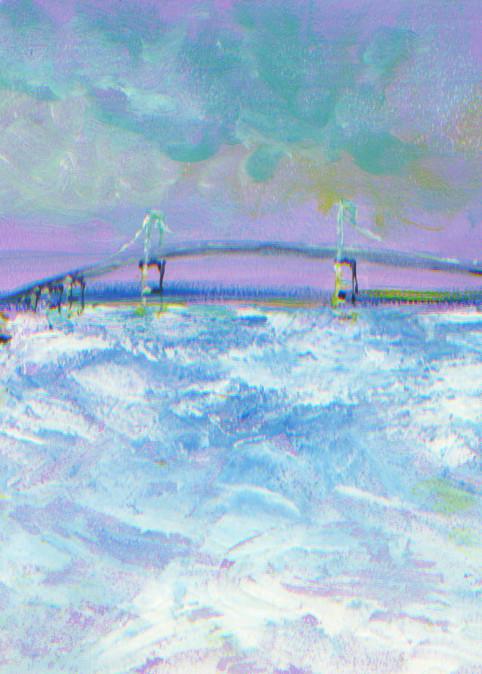 Pell Bridge in Winter Art Print