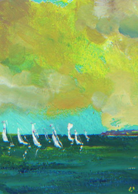 Summer Regatta #2 Art Print