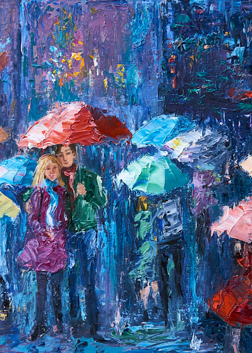 Lovers Walk In Paris Rain Iii Art | Pamela Ramey Tatum Fine Art