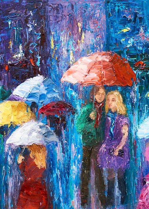 Lovers Walk In Paris Rain Iv Art | Pamela Ramey Tatum Fine Art