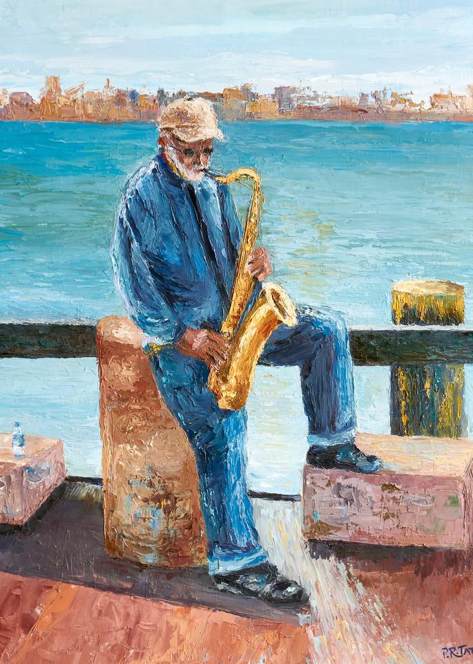 Savannah Saxophone Player on River Street