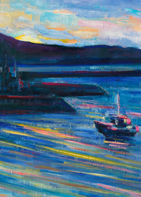 Sunrise 01.01.2018 (Half Moon Bay Harbor Village) Art | Sonnets in colour