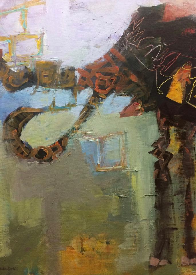 Elephant  Art   Lesa Delisi, Fine Arts