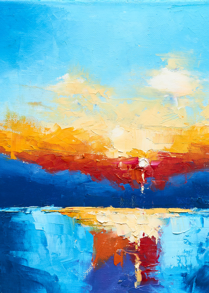 Marsh at Sunset off South Carolina Coast Print