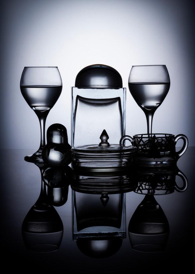 Fine Art Photographs of Glass Black Plexi Reflections by Michael Pucciarelli