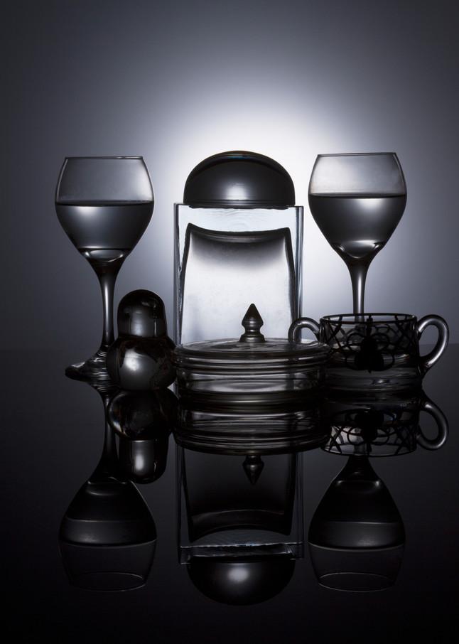 Fine Art Photograph of Glass Black Plexi Reflections by Michael Pucciarelli