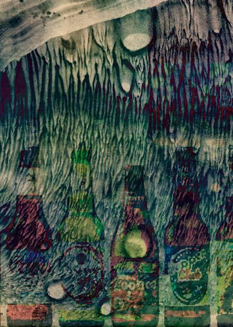 Geoscape Bottle Lineup Art | FortMort Fine Art