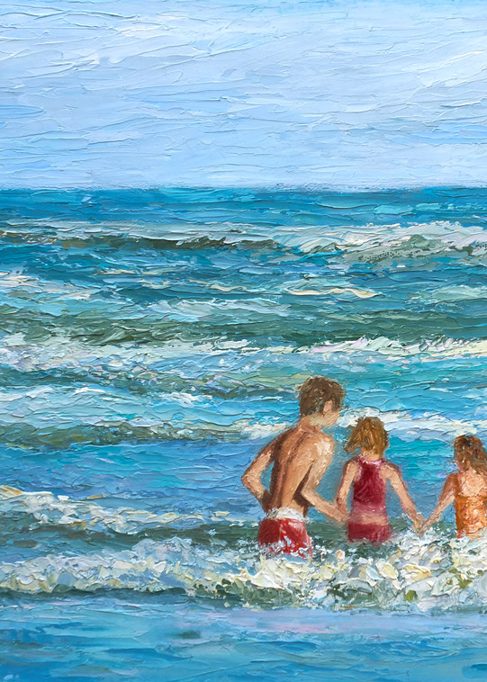 Playing In The Waves Art | Pamela Ramey Tatum Fine Art