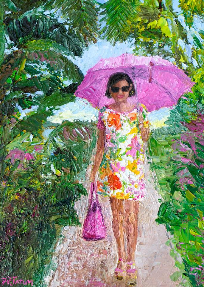 Susanna Under Her Pink Umbrella Art   Pamela Ramey Tatum Fine Art