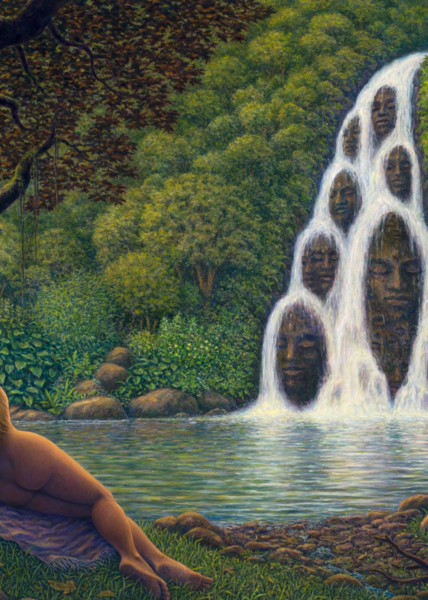 Fountain of Youth custom print from the original painting by Mark Henson