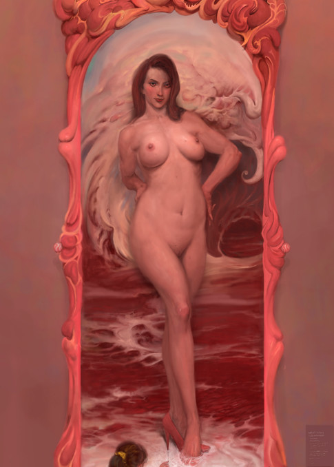 prints of burton gray's meat venus painting