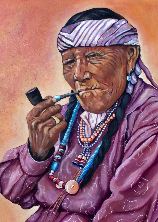 Nakado Woman Smoking  a Pipe
