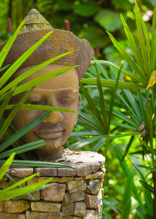 Thai Icon in Bamboo   Travel Art Photography Print