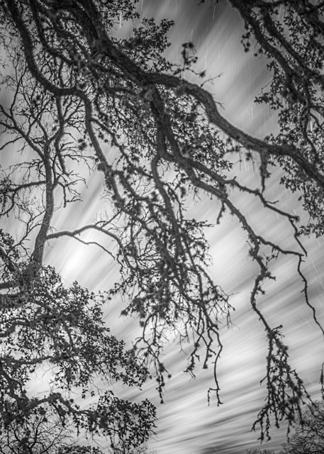 Cold Night At The Ranch | Black and White Landscape Photography