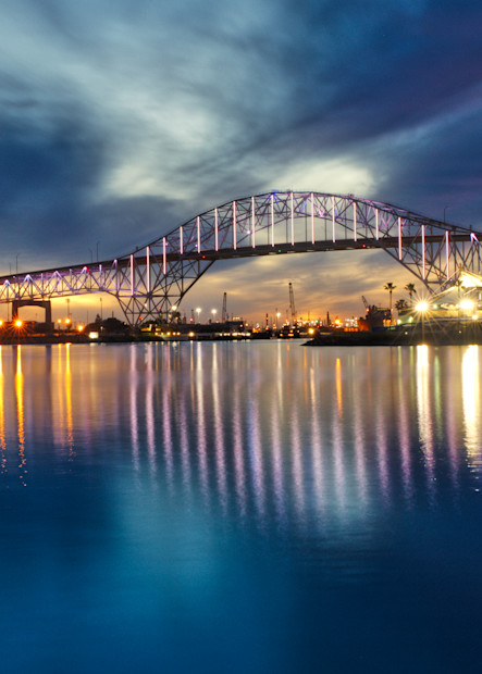 Harbor Bridge In Pastel Lights Photographs – Fine Art Prints On Canvas, Paper, Metal & More Photography Art | Photos by Angie B