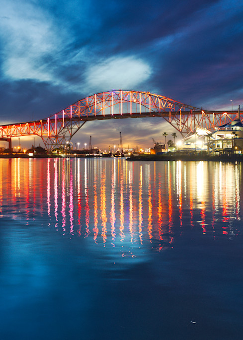 Harbor Bridge In Primary Colors Photographs – Fine Art Prints On Canvas, Paper, Metal & More Photography Art | Photos by Angie B