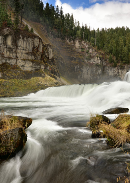 Nearer The River - Upper Mesa Falls in Southeast Idaho - Fine Art Prints on Metal, Canvas, Paper & More By Kevin Odette Photography