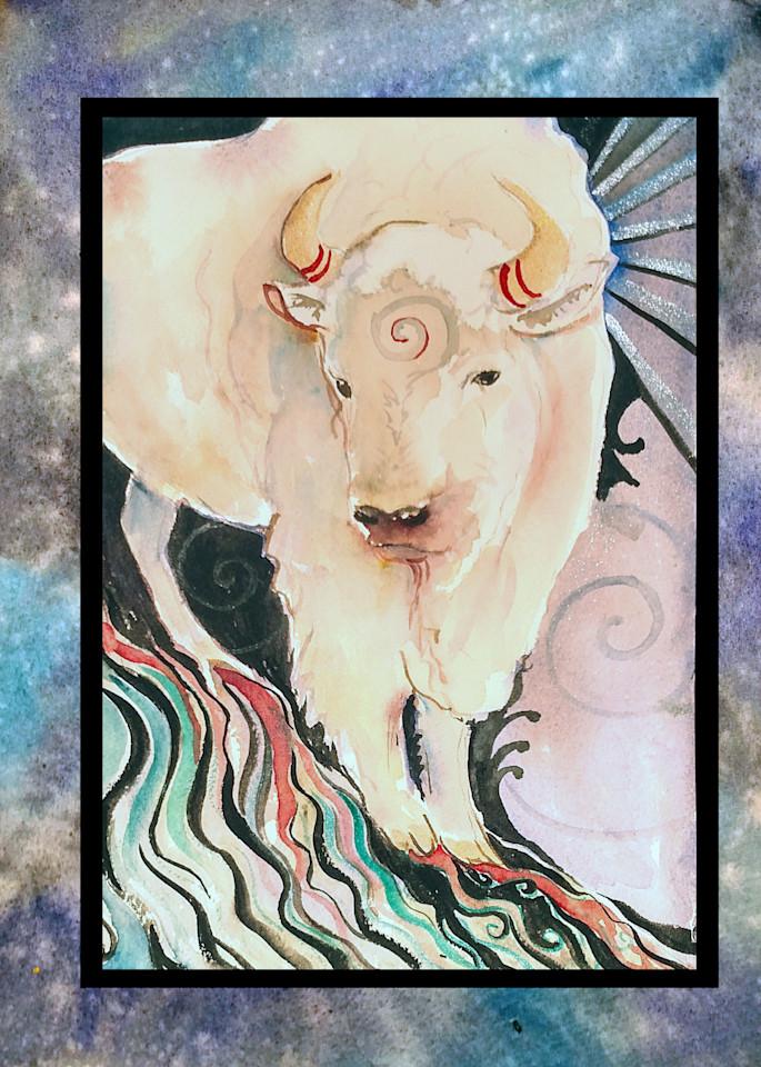 Spirit Buffalo  Art   Bright Spirit Studio