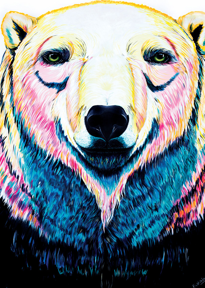 Polar Bear Print from Canadian Animalize collection