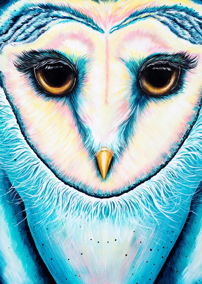 Barn Owl Print Animalize by Ekaterina Sky Antonova