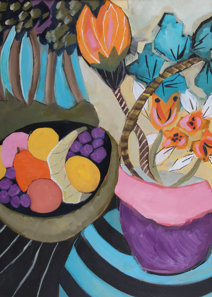 Susan Slotnick Still Life with Fruit and Flowers