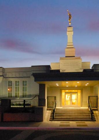 Edmonton Temple - Panoramic Lighted Entrance