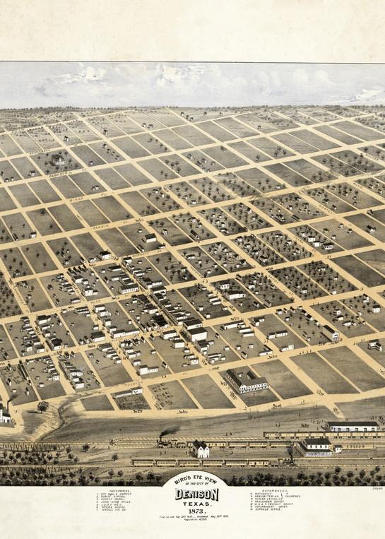 Denison Map   1873 Art   Randy Sedlacek Photography, LLC