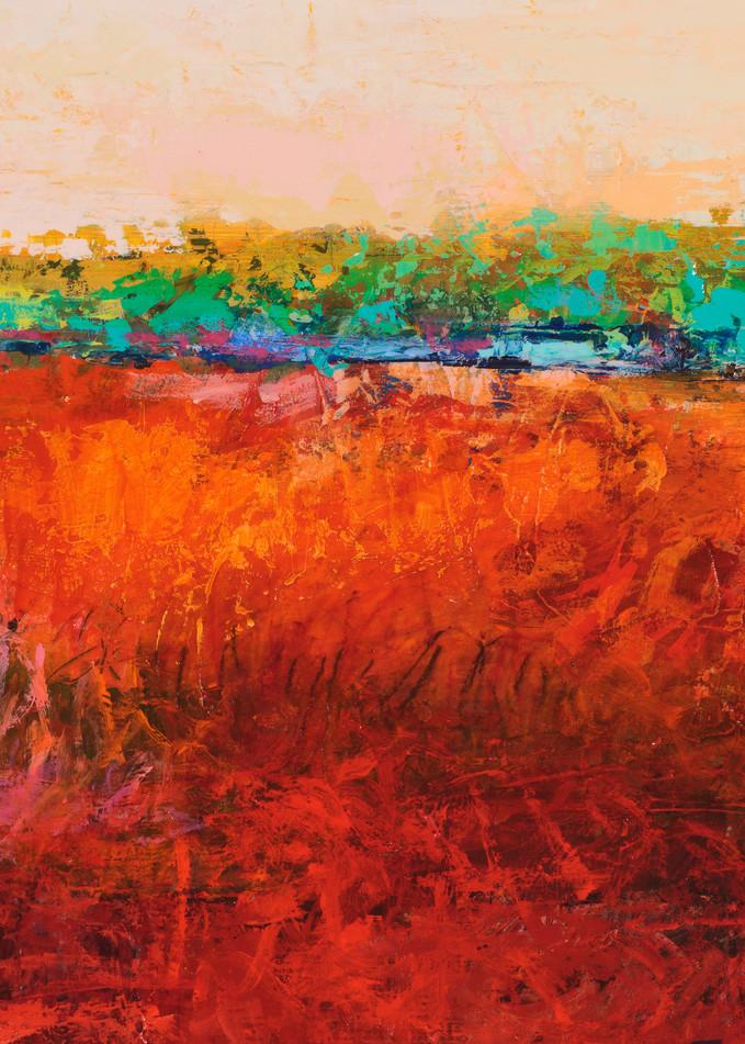 Acrylic Abstract Desert Landscape