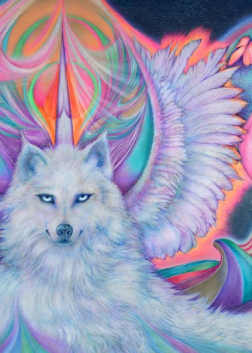 Majestic White Spirit Art | Joan Marie Art