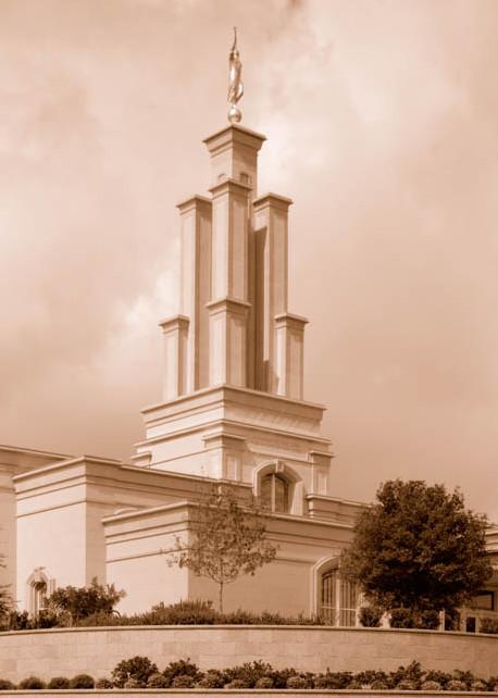San Antonio Temple - Sepia