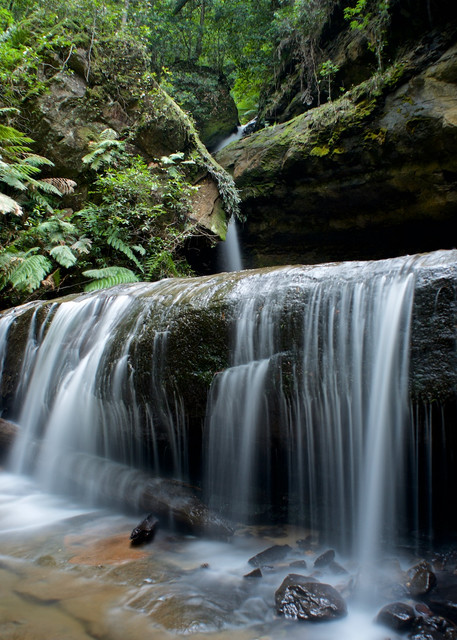 Trinity Falls - Blackheath Govetts Leap Blue Mountains National Park NSW Australia | Limited Edition Waterfall