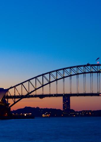 Sydneys Icons Sunset - Sydney Habour Bridge Opera House Australia Landscape | Sunset