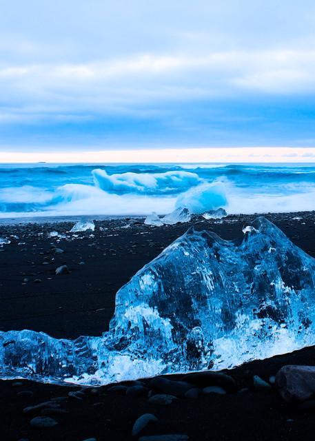 Ice Dragon - Diamond Beach Glacier Lagoon Jokulsarlon Iceland | Fire & Ice