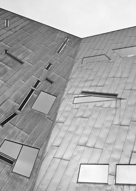 Geometric Planes - Fed Federation Square Melbourne Australia   Black & White