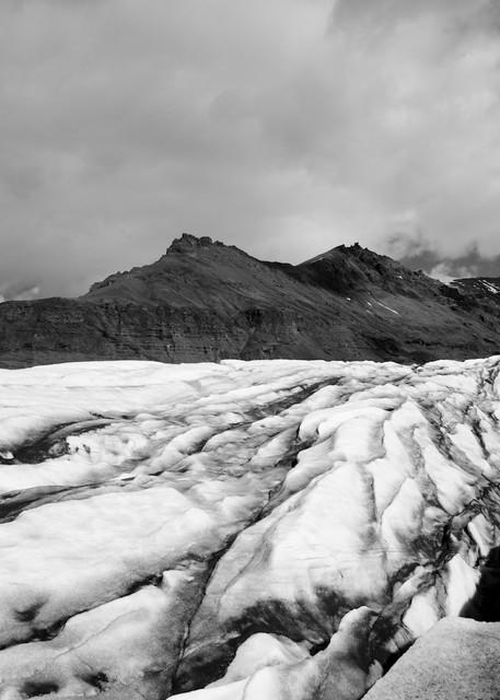 Glacial Contrast - Svinafellsjokull Skaftafell Vatnajokull Iceland | Black & White Limited Edition