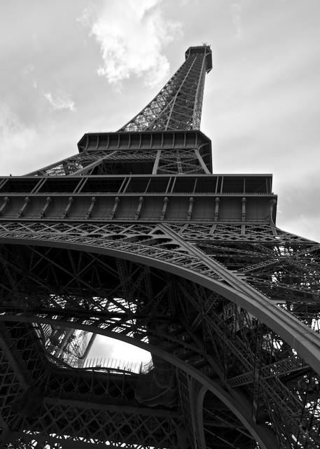 Eiffel Perspective - Eiffel Tower Paris France   Black & White
