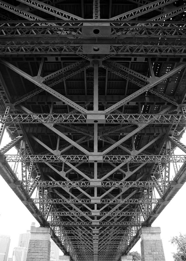 Bridges Skeleton - Sydney Harbour Bridge Sydney Australia | Black & White