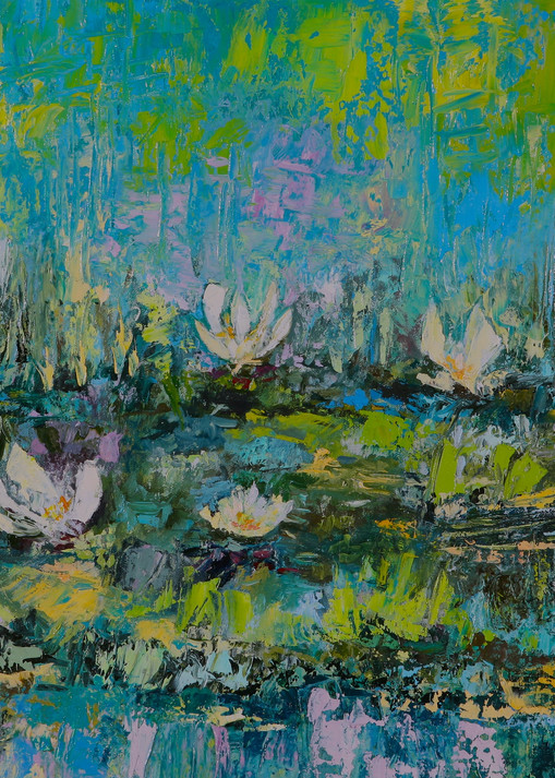 Calming White Lotus Floating Flower Canvases.