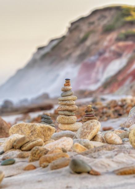 Gay Head Cliffs Cairn Art | Michael Blanchard Inspirational Photography - Crossroads Gallery