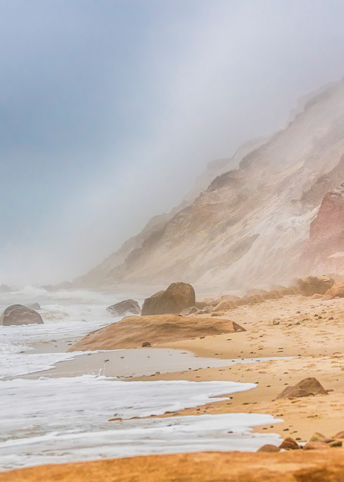 Gay Head Cliffs Fog Art | Michael Blanchard Inspirational Photography - Crossroads Gallery