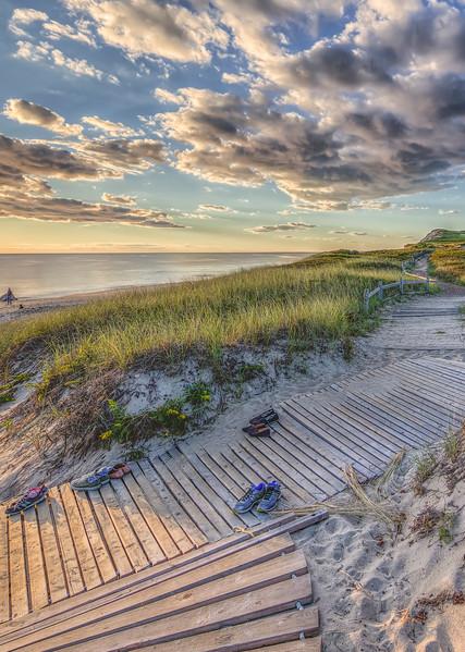 Moshup Beach Late Summer Sunset Art   Michael Blanchard Inspirational Photography - Crossroads Gallery