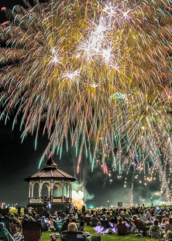 Oak Bluffs Fireworks Art | Michael Blanchard Inspirational Photography - Crossroads Gallery
