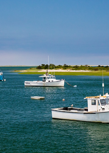 """Chatham Harbor Fishing Boats"" Large Scale Cape Cod Coast Photography"