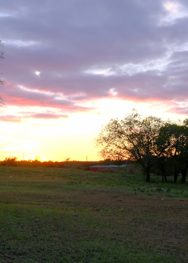 Light in the Sky Over Texas Ranch