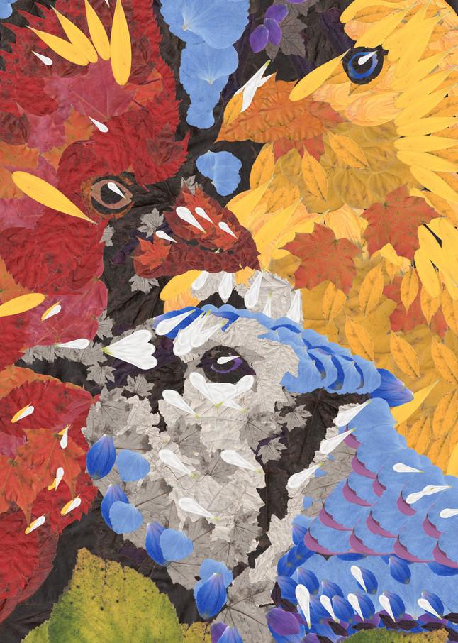 Cardinal, Blue Jay, Gold Finch Art   smacartist