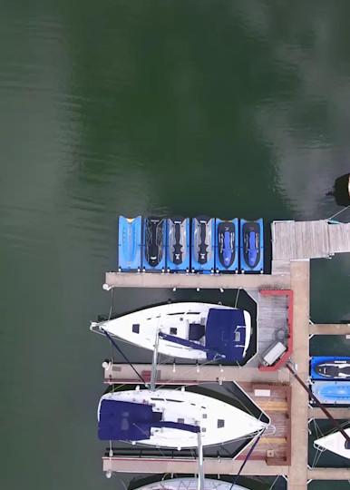 Birds Eye View Over The Marina Photography Art | Drone Video TX