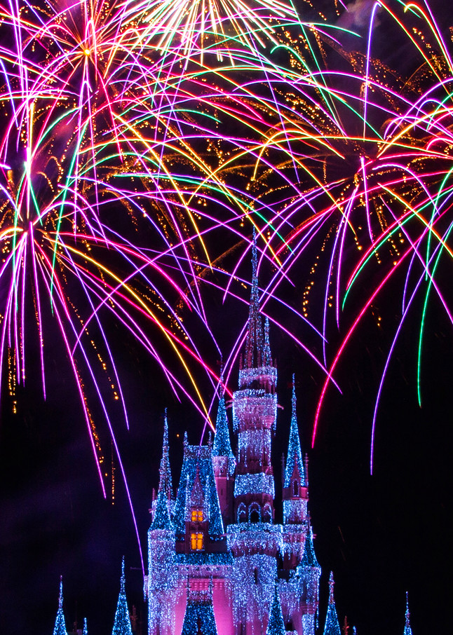 Disney Christmas Fireworks - Disney Canvas | William Drew