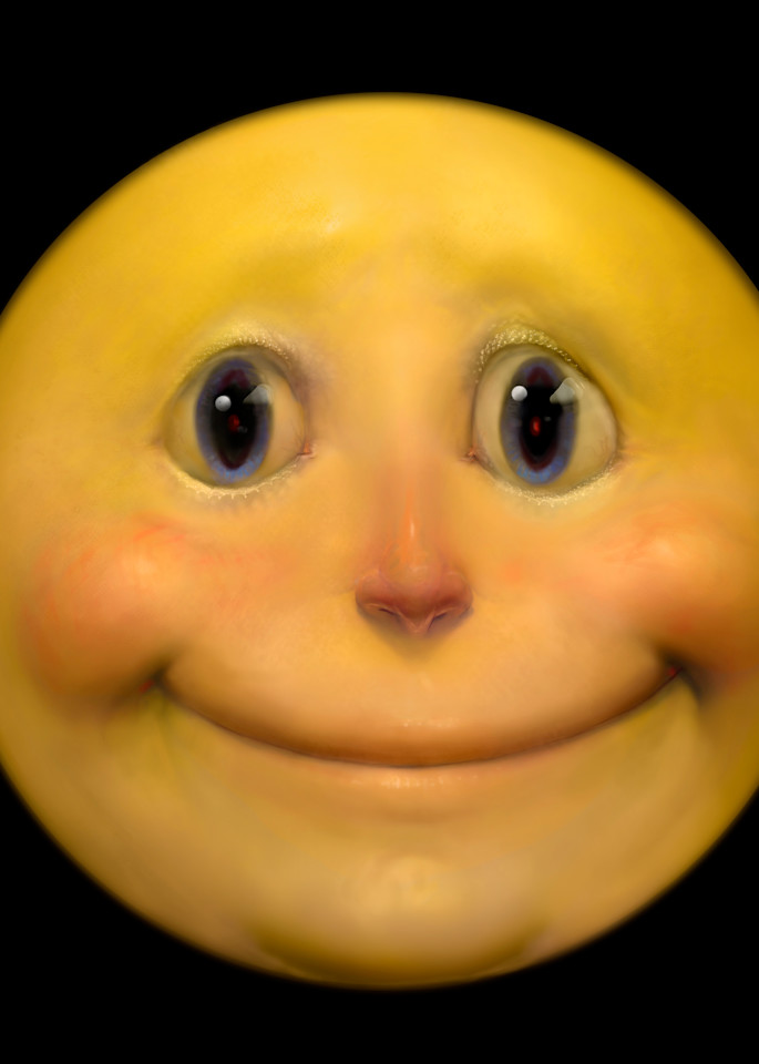 Updated happy face by artist burton gray